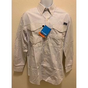 Columbia PFG Omni-Shade Vented Shirt White S